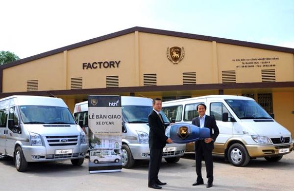 Lễ bàn giao lô xe DCar cho Công ty HTH