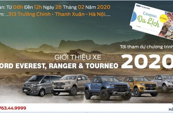 Chương Trình Giới Thiệu xe Ford Ranger & Ford Everest, Ford Tourneo 2020 tại Hà Nội Ford