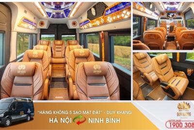 """Phát sốt với """"Hàng không 5 sao mặt đất"""" Duy Khang tuyến Hà Nội - Ninh Bình"""